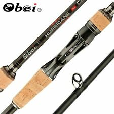 New listing Obei 2.1m 3 Section Baitcasting Fishing Rod Travel Light Casting Spinning Lure