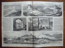 China, capture and occupation of Canton...wood engraving....1858