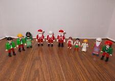 11 PLAYMOBIL Figures - Christmas Santa, Angel Boy & More