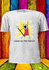clean all die dinge meme girl t-shirt vest tank top herren damen unisex 2022