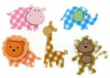 Jesse James Dress It Up Buttons  Baby Safari Animals 6962 Sewing Crafts