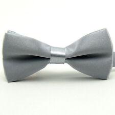 Kid Boy Children Solid Satin Adjustable Bowtie Wedding Party Pre-tied Bow Tie