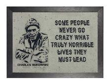 Charles Bukowski langweilige Leben Zitat Dichter Schriftsteller Kurzgeschichte Schriftsteller Poster Foto