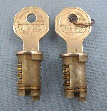 NOS Original JEEP Door Cylinders w/2 Original NOS JEEP Keys 50's 60's