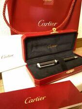 Cartier Ballpoint Pen Santos Dumont Composit  Black with original Box and Booket
