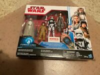 New Set KOHL'S EXCLUSIVE 2017 STAR WARS FORCE LINK Action Figures (4)Free Ship