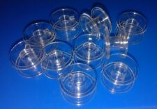 10 CLEAR PLASTIC BOBBINS for top and side loading Sewing Machines of Many Makes