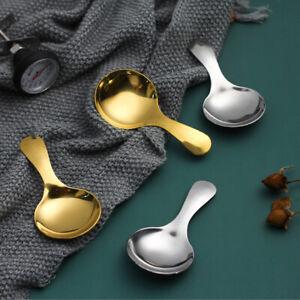 Stainless Steel Spoon Short Handle Sugar Salt Spice Spoon Tea Coffee Scoop UK