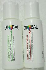 GLOBAL BRAZILIAN KERATIN TREATMENT Formaldehyde Free - For All hair types. 2 oz