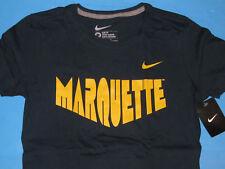 NIKE MARQUETTE MU T-Shirt Women Sz M Medium Slim Fit Navy Blue Golden Eagles NWT