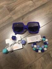 New Gymboree Sparkle Safari Sunglasses & Bracelet, Pony Holders Lot Summer