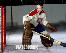 NHL HOF Jacques Plante Montreal Canadiens Game Action Color 8 X 10 Photo Picture