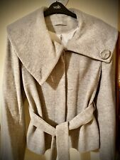Ladies Wallis Grey Winter Lined Button Jacket W/Tie (Size 14) (Great Condition)