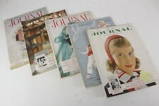 Lot Of 5 Vintage Ladies' Home Journal Magazines 1951 Mid Century Style Designs