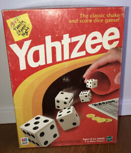 1998 Yahtzee Board Game Milton Bradley Complete w/ Extra Pieces Hasbro Dice Game