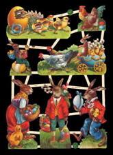 5 SHEETS WILD ZOO BABY ANIMALS VICTORIAN DIE CUTS SCRAP BOOK PAPER COLLAGE