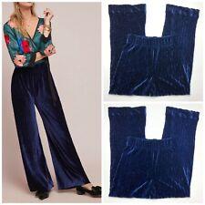 Anthropologie The Odells Velvet Wide-Leg Pants Woman Size S New $174