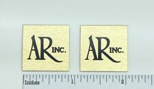 Small AR Inc. Acoustic Research Speaker Badge Logo Emblem Turntable PAIR