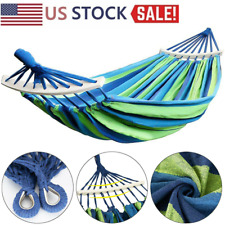 US Stock Outdoor Double Hammock Hanging Swing Travel Camping Garden Bed Chair