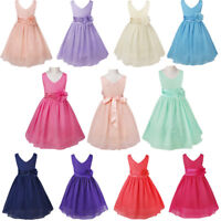 Chiffon Kids Party Dress Flower Girl Confirmation Gown Wedding Bridesmaid Dress