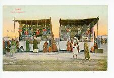 Pastry Vendor Stand CAIRO Antique Arab Market Egypt AK CPA 1910s