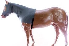 MANE TAMER HORSE SLINKY LYCRA ZIPPERED BRAID&SHOULDER GUARD LARGE SIZE- ENGGRN