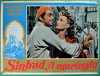 T30 Fotobusta Sinbad Die Seefahrer Maureen O'Hara, Anthony Quinn Fairbanks 2