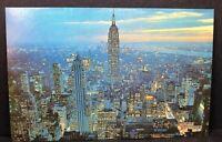 Vintage Postcard New York City Empire State Building Twilight