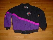 VINTAGE 1996 Polaris SNOWMOBILE Club JACKET BLACK/Purple-Logos L.E. MENS L USA
