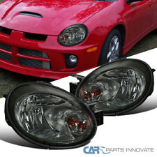 Fit 03-05 Dodge Neon Smoke Lens Headlights Tinted Driving Head Lights Lamps Pair