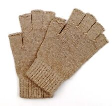 Pure Merino Wool Man Men Woman Women Half Finger Fingerless Gloves Mittens