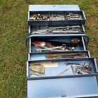 Talco+vintage+cantalever+toolbox+with+contents+shown