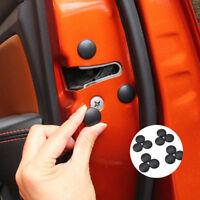 12x Black Universal Auto Car Interior Door Lock Screw Protector Cover Cap Trim