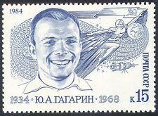 Russia 1984 Yuri Gagarin/Space/Flight/Astronauts/People/Satellite 1v (n25888)