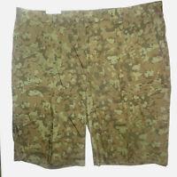 Men's J. Ferrar Olive Green Camo Print Shorts Sizes 30, 32, 34, 36, 40