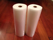 "2 ROLLS 8"" x 50' 4 mil Food & Storage Vacuum Sealer Bags! -Diamond Embossed"