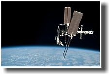 International Space Station & NASA Space Shuttle Endeavour - NEW SCIENCE POSTER