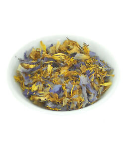 QUALITY DRIED BLUE LILY LOTUS FLOWERS Nymphaea caerulea PREMIUM HERBAL TEA 20g