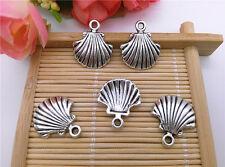 Wholesale 10pcs Tibet Silver Shell Charm Pendant Beaded Jewelry DIY 58