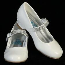 New Flower Girls Kids Youth Wedges Black Ivory White Strap Pageant Wedding