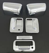 08-15 Super Duty Chrome TOP Half Mirror+2 Door Handl+Tailgate Cover+No PSG KH