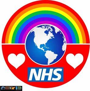 Rainbow love the NHS Sticker - 190mm x 190mm  size - NON PROFITABLE - No. 72