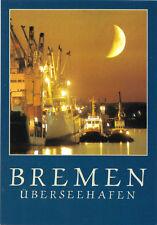 AK, Bremen, Überseehafen, Nachtansicht, um 1995