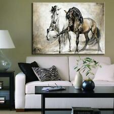 Retro Horse Dance living room Animal Oil Painting On Canvas Wall Pictures  Hot