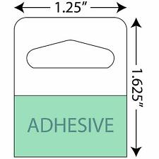 "1-1/4"" X 1-5/8"" Slot Holed Adhesive Hang Tabs - 1000/Pack - Heavy Duty Adhesi."
