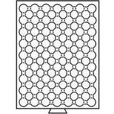 Leuchtturm Münzbox 63 Fächer für CAPS 16,5, rauchfarben