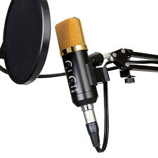 Professional USB Podcast Condenser Microphone PC Recording MIC with Stand Tripod
