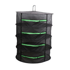 4 Layer Dry Net Hanging Herb Drying Rack with Zipper Fits for Bud, Food, Tea