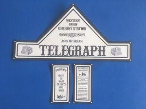 Playmobil Western * Telegraph *autocollant - Sticker Western