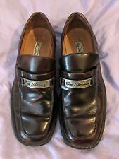 Men's Ben Sherman Designer Slip On Shoes Brown Leather Steel Badge Uk 10 Eur 45